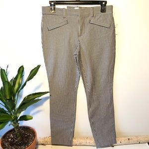 Gap Stripped Skinny Ankle Mid Rise 2 Way Stretch 4